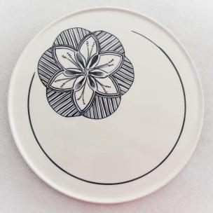 Dans la boîte noire - Virginie Deruelle - Céramique - Plat fleur