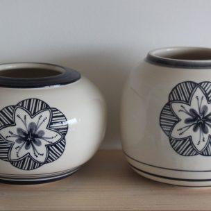 Dans la boîte noire - Virginie Deruelle - Céramique - Vases fleur (2)