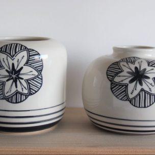 Dans la boîte noire - Virginie Deruelle - Céramique - Vases fleur