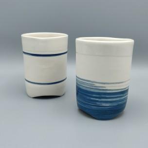Dans la boîte noire - Virginie Deruelle - Céramique - tasses coulées grès
